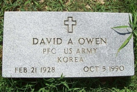 OWEN, DAVID A (VETERAN KOR) - McDonald County, Missouri   DAVID A (VETERAN KOR) OWEN - Missouri Gravestone Photos