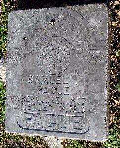 PAGUE, SAMUEL T. - McDonald County, Missouri | SAMUEL T. PAGUE - Missouri Gravestone Photos
