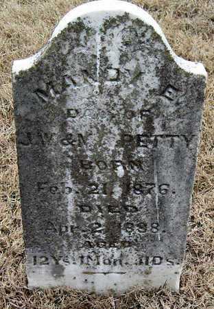 PETTY, MANDY E - McDonald County, Missouri | MANDY E PETTY - Missouri Gravestone Photos