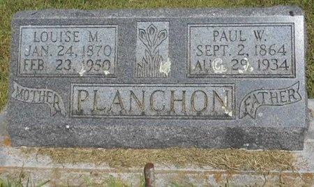 PLANCHON, PAUL W. - McDonald County, Missouri | PAUL W. PLANCHON - Missouri Gravestone Photos
