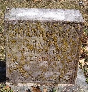 RAINS, BEULAH GLADYS - McDonald County, Missouri   BEULAH GLADYS RAINS - Missouri Gravestone Photos