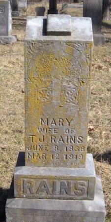 RICHARDSON RAINS, MARY ALICE - McDonald County, Missouri | MARY ALICE RICHARDSON RAINS - Missouri Gravestone Photos