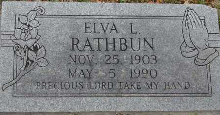 RATHBUN, ELVA L - McDonald County, Missouri | ELVA L RATHBUN - Missouri Gravestone Photos