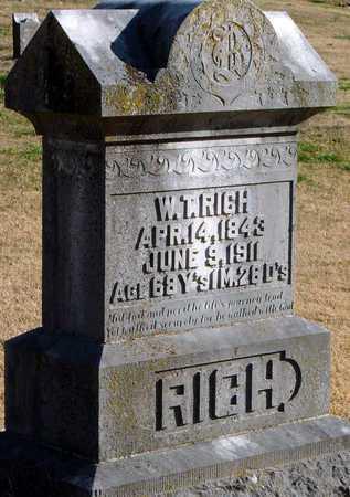 RICH, WILLIAM TAYLOR - McDonald County, Missouri | WILLIAM TAYLOR RICH - Missouri Gravestone Photos