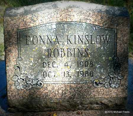 KINSLOW ROBBINS, DONNA - McDonald County, Missouri | DONNA KINSLOW ROBBINS - Missouri Gravestone Photos