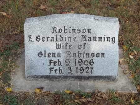 ROBINSON, E. GERALDINE - McDonald County, Missouri | E. GERALDINE ROBINSON - Missouri Gravestone Photos