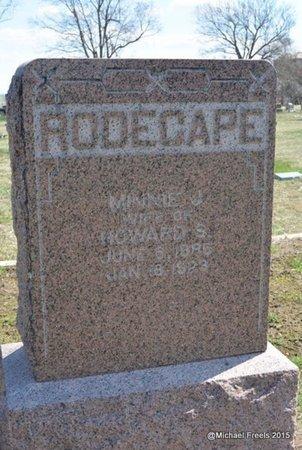 RODECAPE, MINNIE J. - McDonald County, Missouri   MINNIE J. RODECAPE - Missouri Gravestone Photos