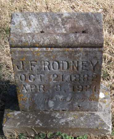 RODNEY, J F - McDonald County, Missouri   J F RODNEY - Missouri Gravestone Photos