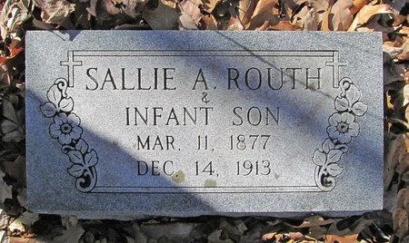 ROUTH, SALLIE A - McDonald County, Missouri | SALLIE A ROUTH - Missouri Gravestone Photos