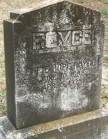 SLATER ROYCE, EFFIE HOPE - McDonald County, Missouri | EFFIE HOPE SLATER ROYCE - Missouri Gravestone Photos