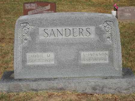 SANDERS, A. JACKSON - McDonald County, Missouri | A. JACKSON SANDERS - Missouri Gravestone Photos
