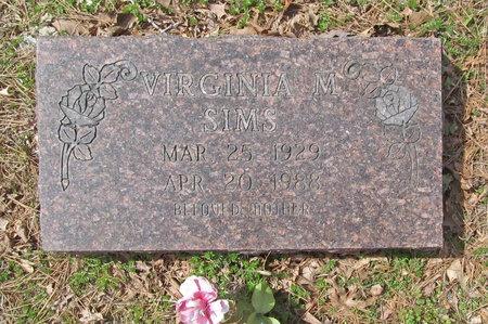 SIMS, VIRGINIA M - McDonald County, Missouri | VIRGINIA M SIMS - Missouri Gravestone Photos
