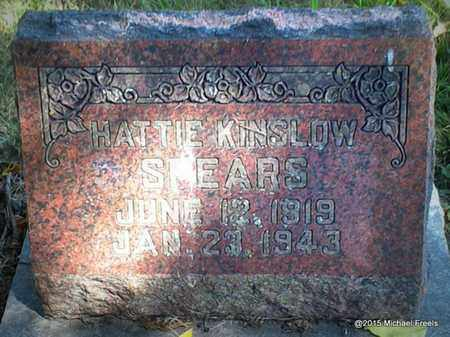 KINSLOW SPEARS, HATTIE - McDonald County, Missouri   HATTIE KINSLOW SPEARS - Missouri Gravestone Photos