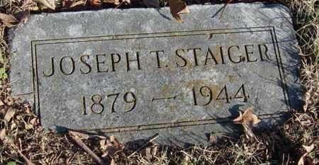 STAIGER, JOSEPH T - McDonald County, Missouri | JOSEPH T STAIGER - Missouri Gravestone Photos