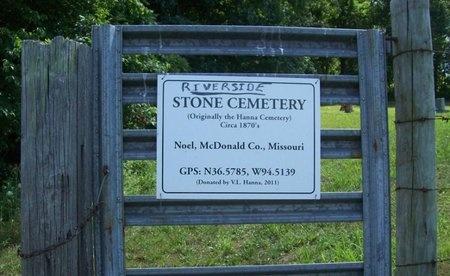 *, STONE CEMETERY SIGN - McDonald County, Missouri | STONE CEMETERY SIGN * - Missouri Gravestone Photos
