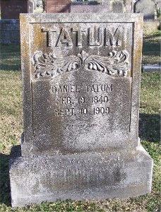 TATUM, DANIEL - McDonald County, Missouri | DANIEL TATUM - Missouri Gravestone Photos