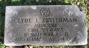 TESTERMAN, CLYDE L (VETERAN WWI & II) - McDonald County, Missouri | CLYDE L (VETERAN WWI & II) TESTERMAN - Missouri Gravestone Photos