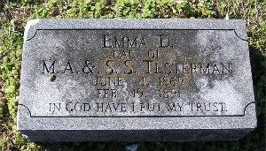 TESTERMAN, EMMA D. - McDonald County, Missouri | EMMA D. TESTERMAN - Missouri Gravestone Photos