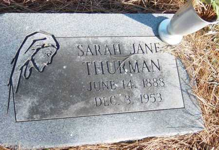 THURMAN, SARAH JANE - McDonald County, Missouri | SARAH JANE THURMAN - Missouri Gravestone Photos