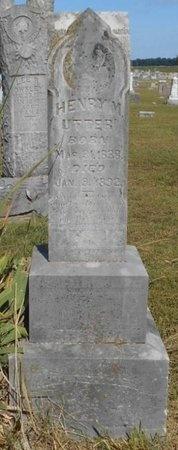UTTER, HENRY M. - McDonald County, Missouri | HENRY M. UTTER - Missouri Gravestone Photos