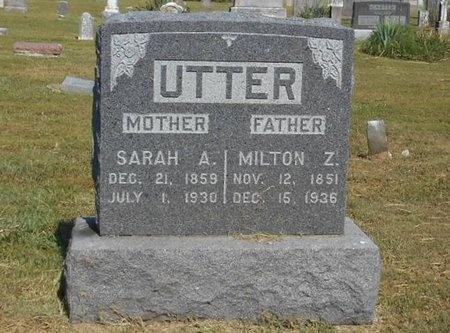 UTTER, SARAH A. - McDonald County, Missouri | SARAH A. UTTER - Missouri Gravestone Photos