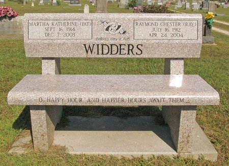 "WIDDERS, MARTHA KATHERINE ""PAT"" - McDonald County, Missouri   MARTHA KATHERINE ""PAT"" WIDDERS - Missouri Gravestone Photos"