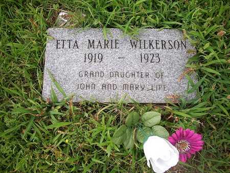 WILKERSON, ETTA MARIE - McDonald County, Missouri | ETTA MARIE WILKERSON - Missouri Gravestone Photos