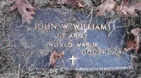 WILLIAMS, JOHN W (VETERAN WWII) - McDonald County, Missouri | JOHN W (VETERAN WWII) WILLIAMS - Missouri Gravestone Photos