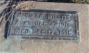 WILLITS, ANNIE BELLE - McDonald County, Missouri | ANNIE BELLE WILLITS - Missouri Gravestone Photos