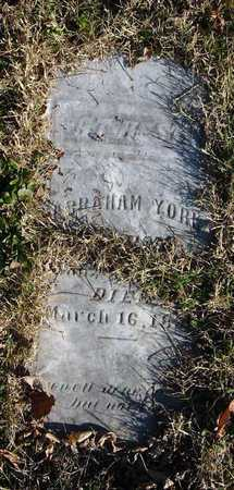 YORK, ABRAHAM JR - McDonald County, Missouri | ABRAHAM JR YORK - Missouri Gravestone Photos
