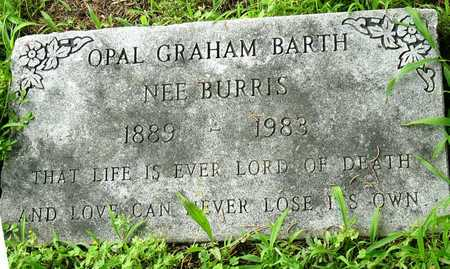 BURRIS BARTH, OPAL ADELINE - Miller County, Missouri | OPAL ADELINE BURRIS BARTH - Missouri Gravestone Photos