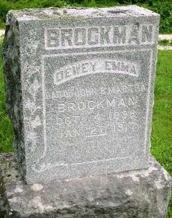 BROCKMAN, DEWEY EMMA - Miller County, Missouri   DEWEY EMMA BROCKMAN - Missouri Gravestone Photos