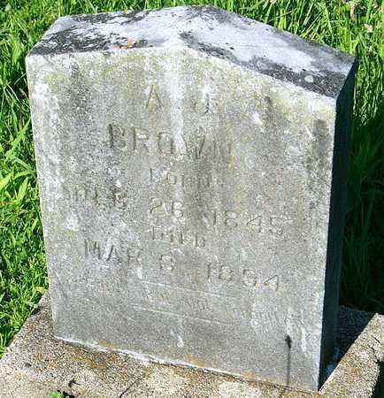 BROWN, AMOS J - Miller County, Missouri | AMOS J BROWN - Missouri Gravestone Photos