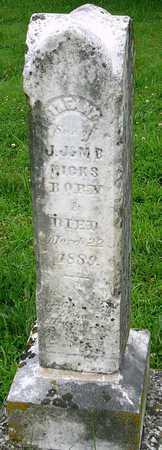HICKS, INFANT SON - Miller County, Missouri   INFANT SON HICKS - Missouri Gravestone Photos