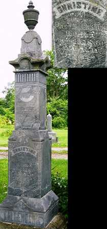 KALLENBACH, CHRISTINE MARIA - Miller County, Missouri | CHRISTINE MARIA KALLENBACH - Missouri Gravestone Photos