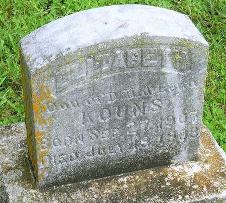 KOUNS, ELIZABETH - Miller County, Missouri | ELIZABETH KOUNS - Missouri Gravestone Photos