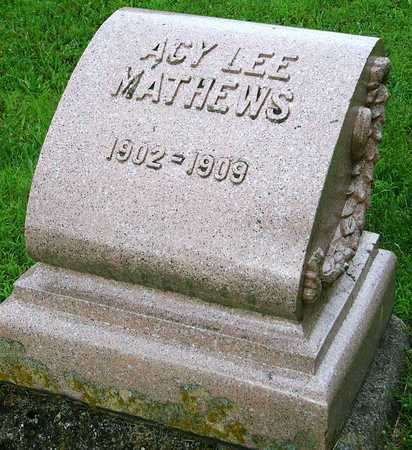 MATTHEWS, ACY LEE - Miller County, Missouri | ACY LEE MATTHEWS - Missouri Gravestone Photos