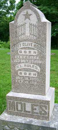 ROBINSON MOLES, MARY OLIVE - Miller County, Missouri   MARY OLIVE ROBINSON MOLES - Missouri Gravestone Photos