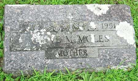 MOLES MOLES, OLIVE MAY - Miller County, Missouri | OLIVE MAY MOLES MOLES - Missouri Gravestone Photos