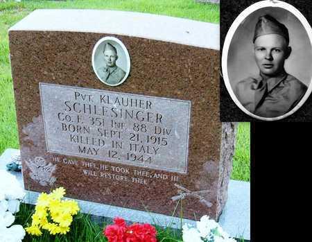 SCHLESINGER, KLAUGHER VETERAN WWII KIA - Miller County, Missouri   KLAUGHER VETERAN WWII KIA SCHLESINGER - Missouri Gravestone Photos