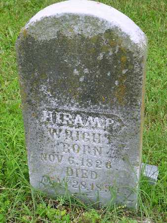 WRIGHT, HIRAM P VETERAN CW - Miller County, Missouri | HIRAM P VETERAN CW WRIGHT - Missouri Gravestone Photos