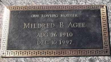 AGEE, MILDRED B - Morgan County, Missouri   MILDRED B AGEE - Missouri Gravestone Photos