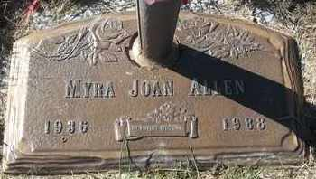 ALLEN, MYRA JOAN - Morgan County, Missouri | MYRA JOAN ALLEN - Missouri Gravestone Photos