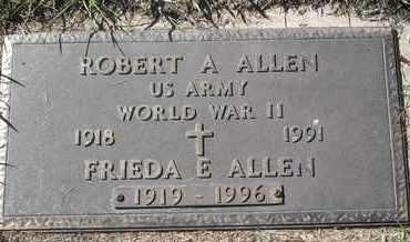 ALLEN, ROBERT A - MILITARY - Morgan County, Missouri   ROBERT A - MILITARY ALLEN - Missouri Gravestone Photos