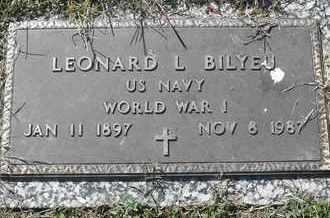 BILYEU, LEONARD L - MILITARY - Morgan County, Missouri | LEONARD L - MILITARY BILYEU - Missouri Gravestone Photos