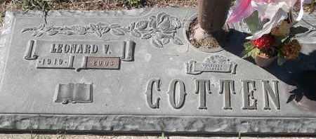 COTTEN, LEONARD V - Morgan County, Missouri | LEONARD V COTTEN - Missouri Gravestone Photos
