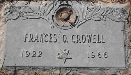 CROWELL, FRANCES O - Morgan County, Missouri | FRANCES O CROWELL - Missouri Gravestone Photos