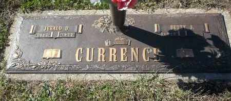 CURRENCE, JERALD D - Morgan County, Missouri | JERALD D CURRENCE - Missouri Gravestone Photos
