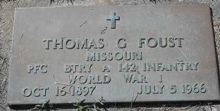 FOUST, THOMAS G - Morgan County, Missouri | THOMAS G FOUST - Missouri Gravestone Photos