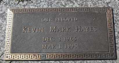 HAYES, KEVIN MARK - Morgan County, Missouri | KEVIN MARK HAYES - Missouri Gravestone Photos